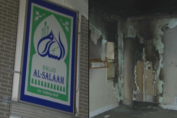 6818757387camikanadasaldr - مسجد السلام پس از حوادث تروریستی پاریس در کانادا به آتش کشیده شد