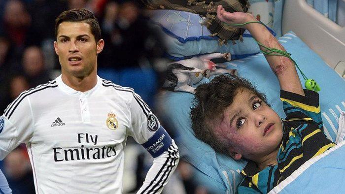 ستاره پرتغالی فوتبال جهان باتنها بازمانده خانواده فلسطینی دیدار  می کند