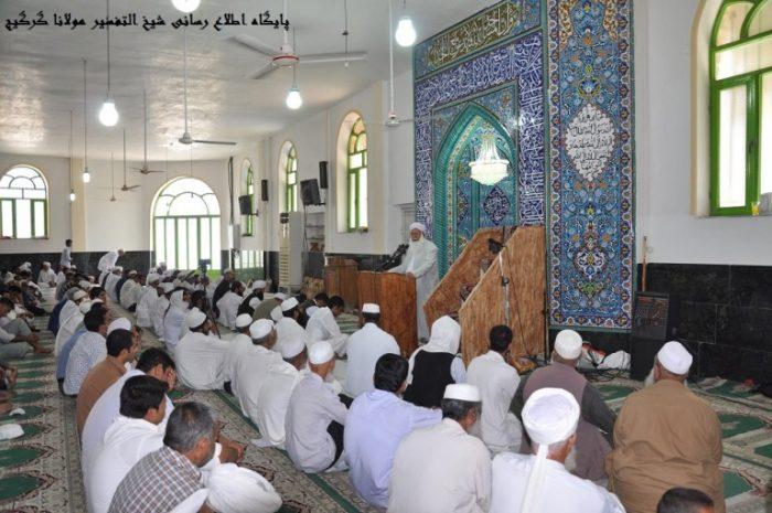molana gorgij - مسولان تسهیلات را برای برگزاری شعائر دینی اهل سنت در اختیار آنان قرار دهند