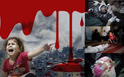 201437190937 gazaa f - ۷ شهید و بیش از ۱۰۰ مجروح تا به این لحظه در کرانه باختری و نوارغزه