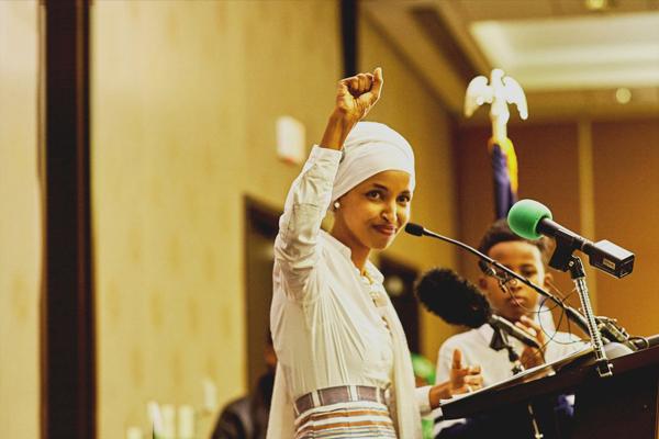 elhan omar - راه یابی نخستین بانوی مسلمان محجبه به مجلس نمایندگان آمریکا